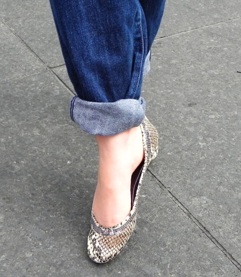 Shauna's reptile sparkle Guess Flats