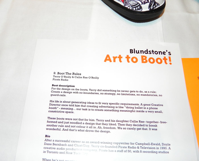 Blundstone Art To Book 2010 Invite