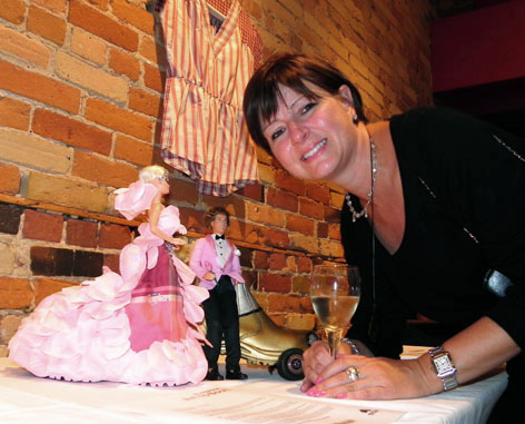 Tracy O'Brien with her creation