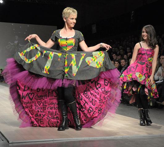 Peach Berserk modelled by Wendy & Kate Mesley