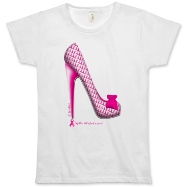 Breast Cancer Awareness Stiletto Tee by ShoeTease