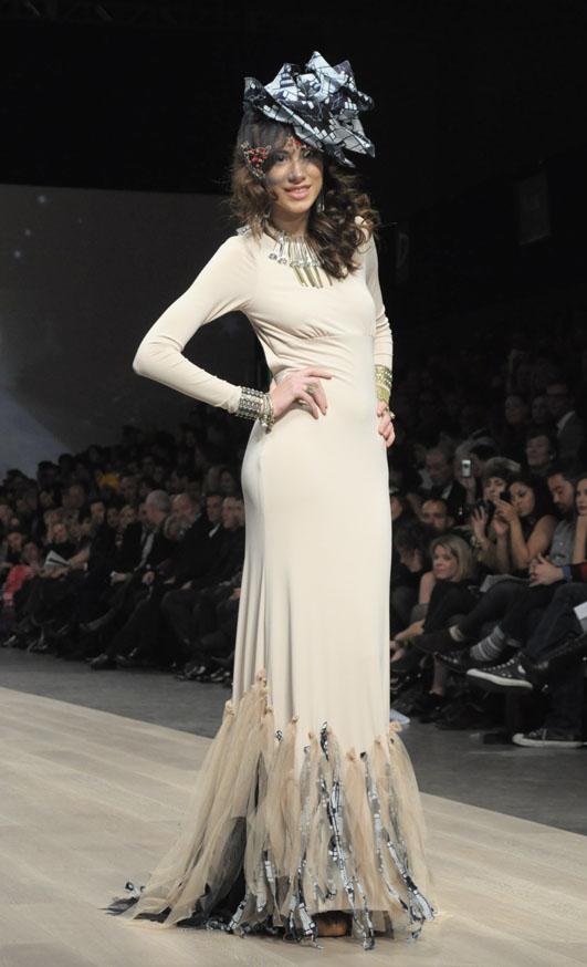 Fashion Crimes creation modeled by Jasmin
