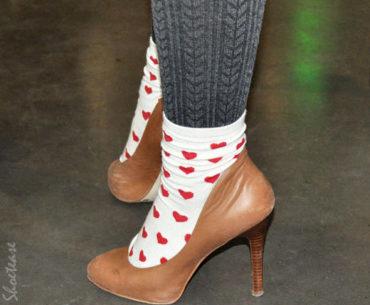 sock and heels