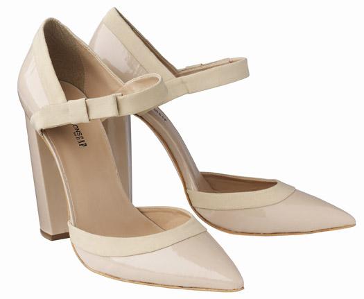 I Want! Pierre Hardy x Gap Nude Mary Jane Heels
