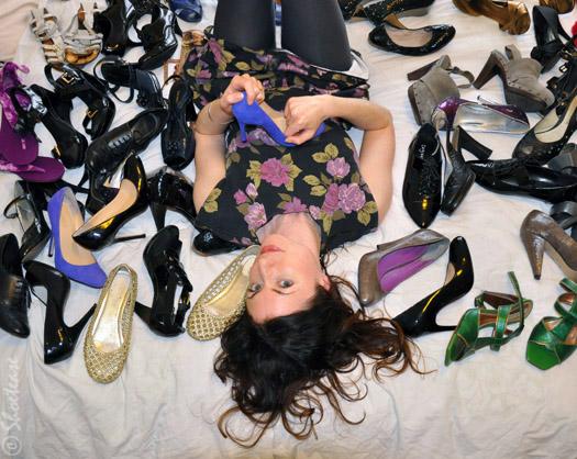 Skinny Dipping in Simone's Shoe Closet!