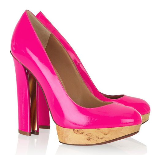 neon pink shoes tea ideas