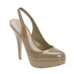 Saturday Shoe Steal – Khaki Patent Platform Slingbacks!