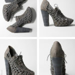 I Want! High Strung Grey Platform Heels