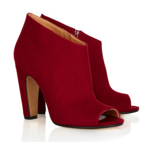 Red, Regal Wine Bootie Trend - For Big, Teeny & Average Foot Sizes!