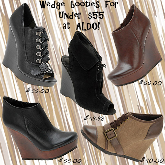 Saturday Shoe Steal - Clearance Sale Wedge Booties at Aldo!