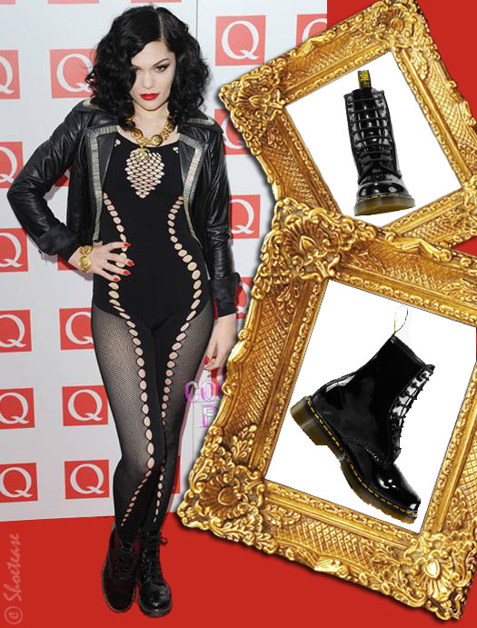 Spotted! Jessie J Wears a Catsuit with her Doc Martens