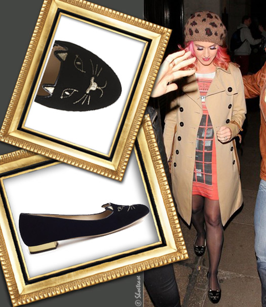 Celeb Shoe Sightings Katy Perry In Her Kitty Cat