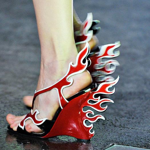 Shoe Embellishment Overdose on the Spring 2012 Milan Runways!