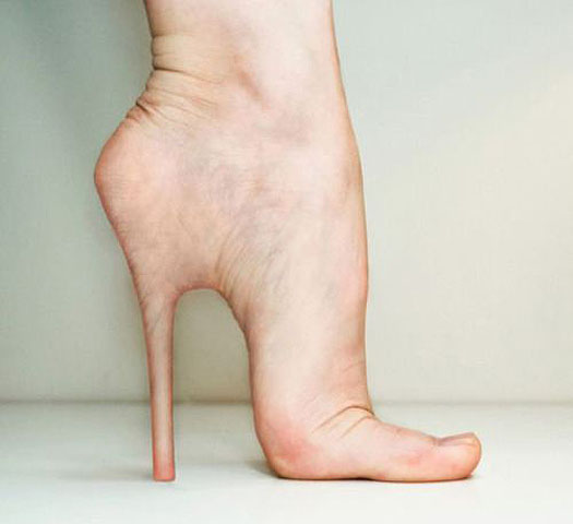 Freak shoe friday if we were born with stilettos