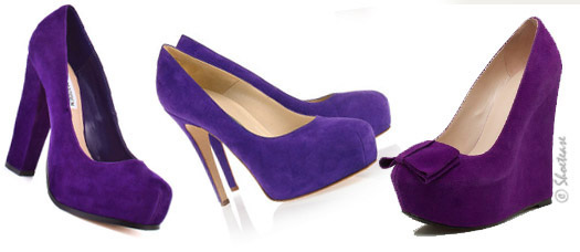 Celebs go Gaga over Purple Shoes!