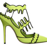 I Want! Manolo Blahnik's Lime Green Squiggles Stiletto