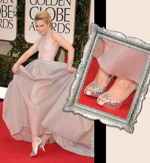 Piper Perabo Attends the 69th golden globes in Christian Louboutin