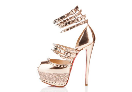 e2facd0d4c1f christian louboutin capsule anniversary collection rose gold spike heels