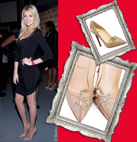 Kate Upton's nude Christian Louboutin SEX heels - celebrity style