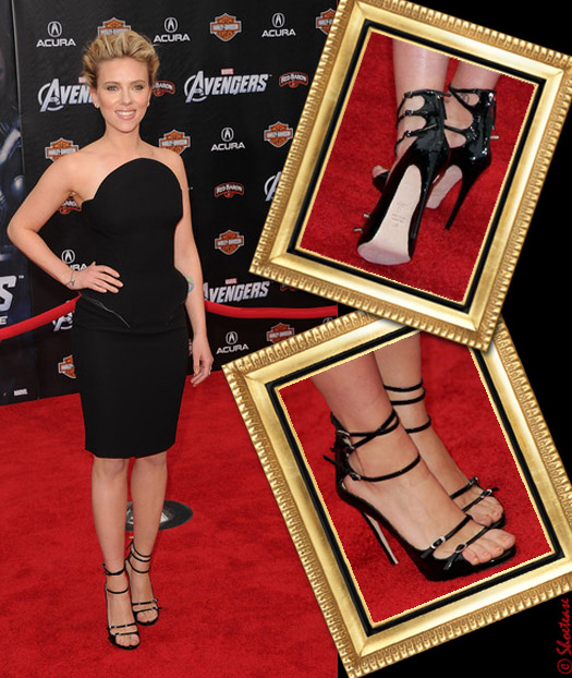 scarlett johansson celebrity shoes style zanotti