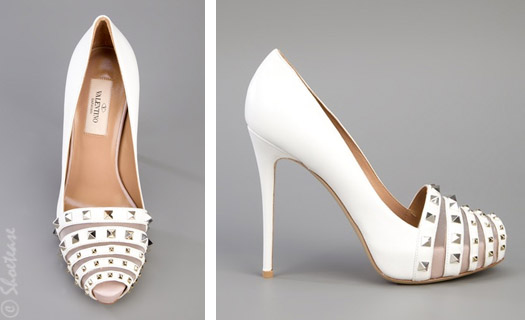 valentino stud detail wedding shoes white spring 2012