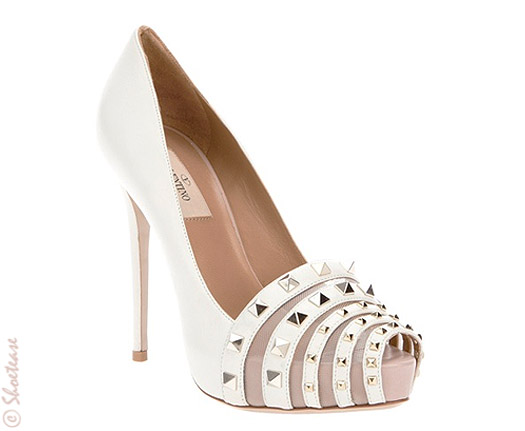 valentino stud shoes white spring 2012