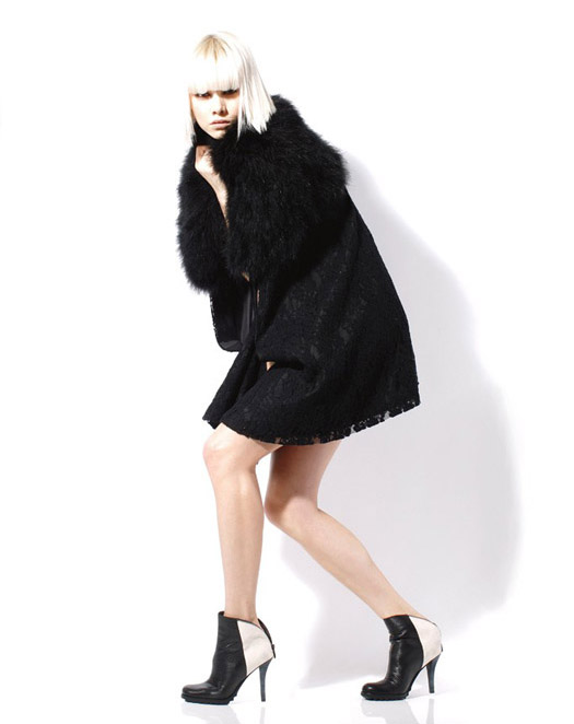 Daniblack ankle bots with zipper black white trend fall 2012