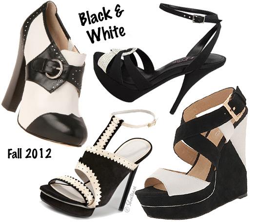 black white trend jason wu aldo nine west nina shoes fall 2012