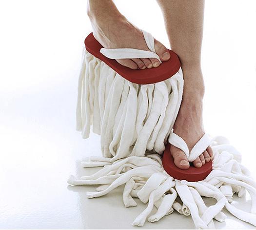 Freak Shoe Fashion: mop thong flip flops