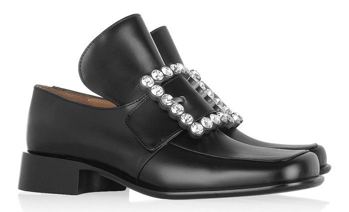 marc jacobs Crystal-buckle leather loafers freak shoe friday ugly fashion