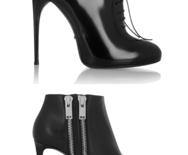 Top Best Sexy black heeled ankle boots of Fall Winter 2013