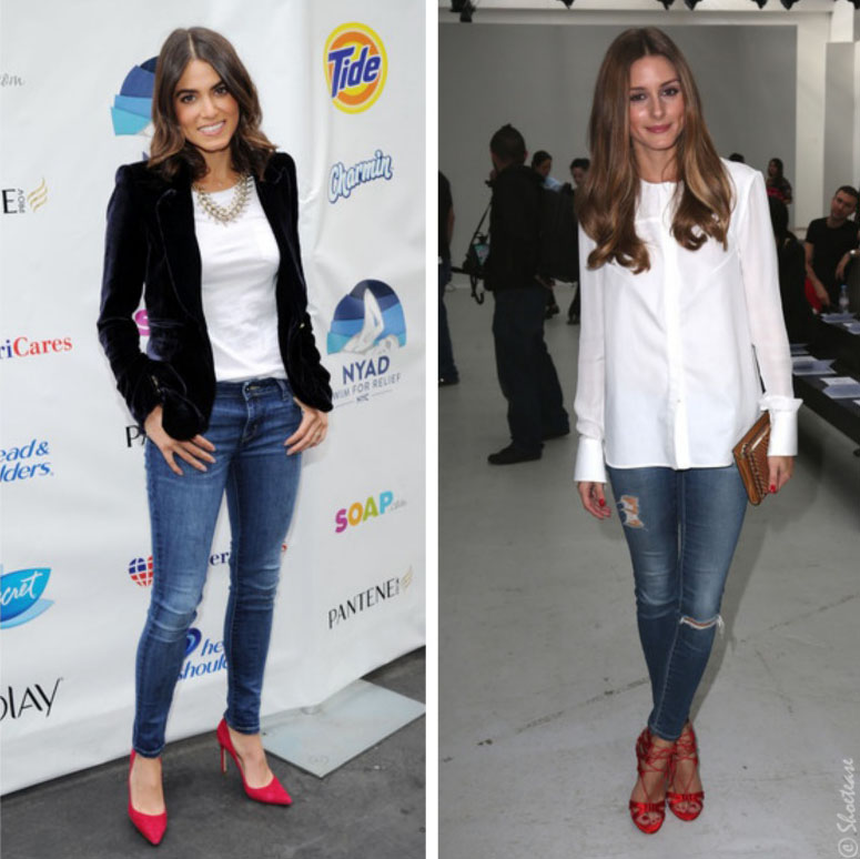 2140aa5982a Nikki Reed and Olivia Palermo looking stylish in their white tops
