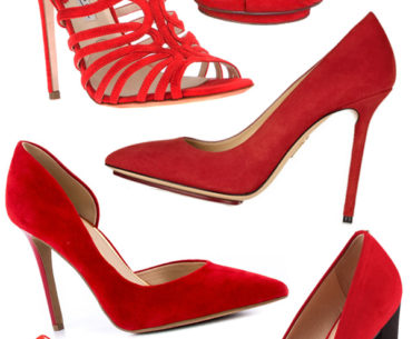 red suede shoes trend