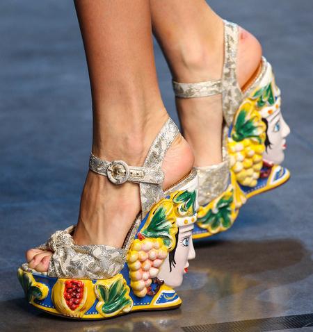 Dolce Amp Gabbana Women S Shoes From Spring 2013 Milan Runway
