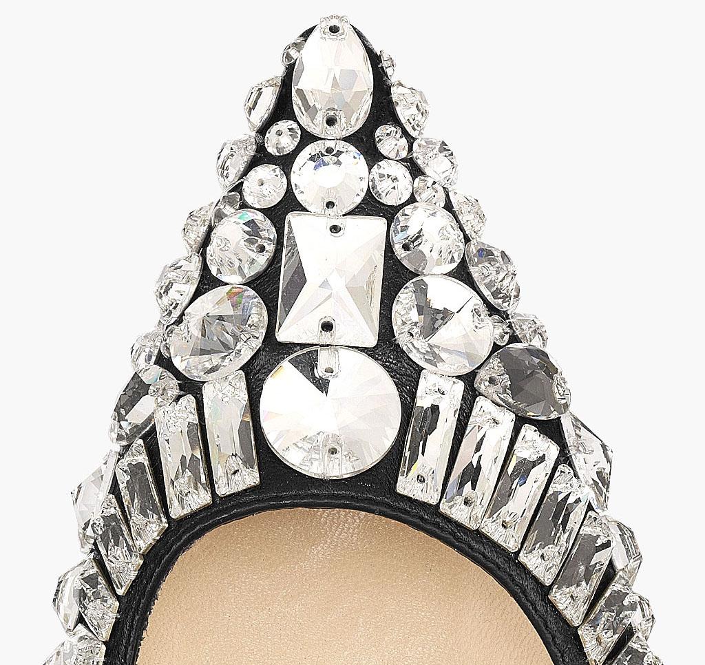 jimmy choo tia pointed crystal embellished pump i want shoe heels obsession black