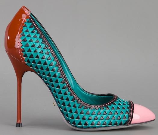 I Want Sergio Rossi Color Block Stiletto Pumps
