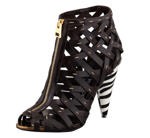 tom ford fall winter 2013 fashion lattice booties ankle boots