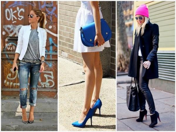 c15f3b9ed33 Top Street Style Shoe Pins fashion style on the street heels stilettos pump  coat winter season