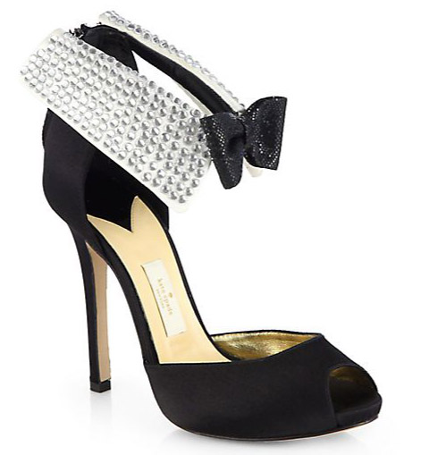 heels stiletto shoe party new year's eve 2014 peep toe crystal embellishment