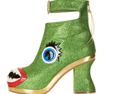 holiday green monster heels boots weird ugly freaky shoes