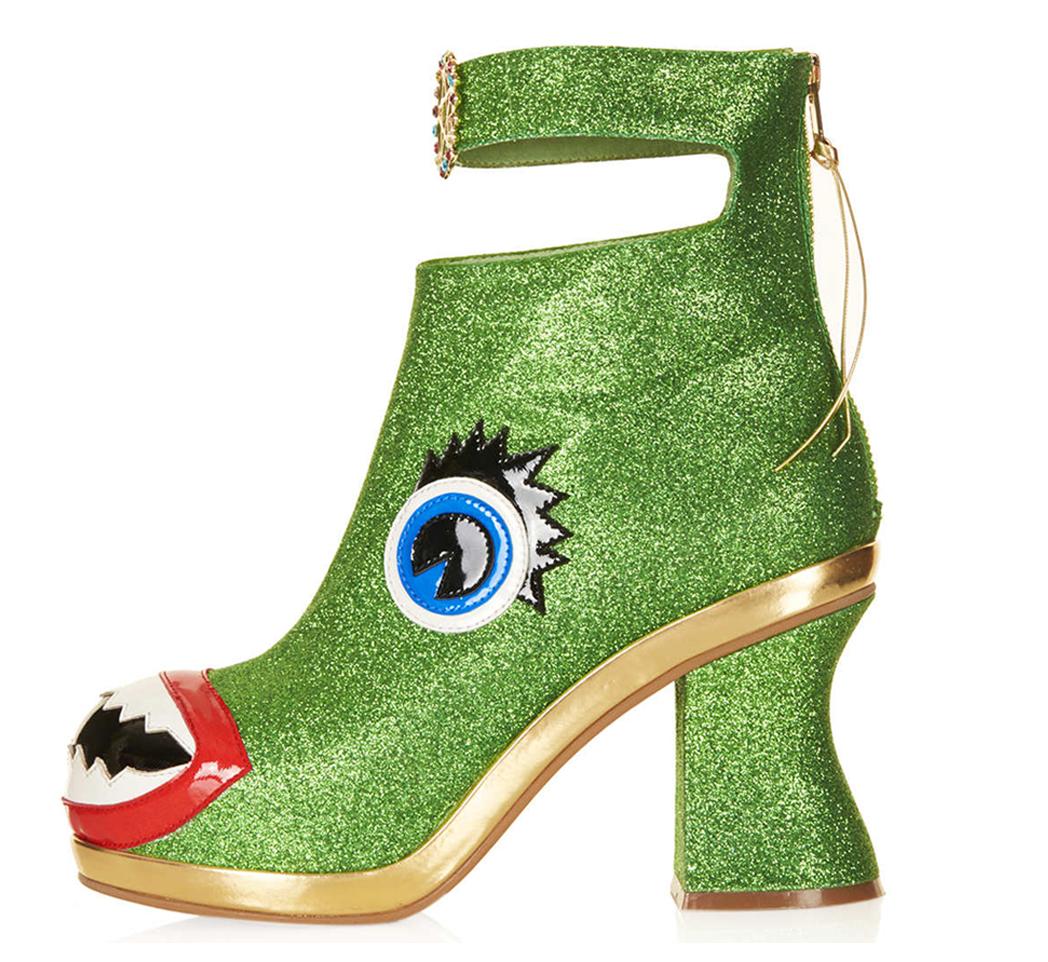 fe984888b1 Freak-Shoe Friday: Christmas Glitter Monster Heels