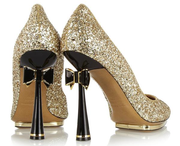 7179b8bad3eb stiletto black gold shiny festive holidays christmas new year s shoe  fashion style designer high end