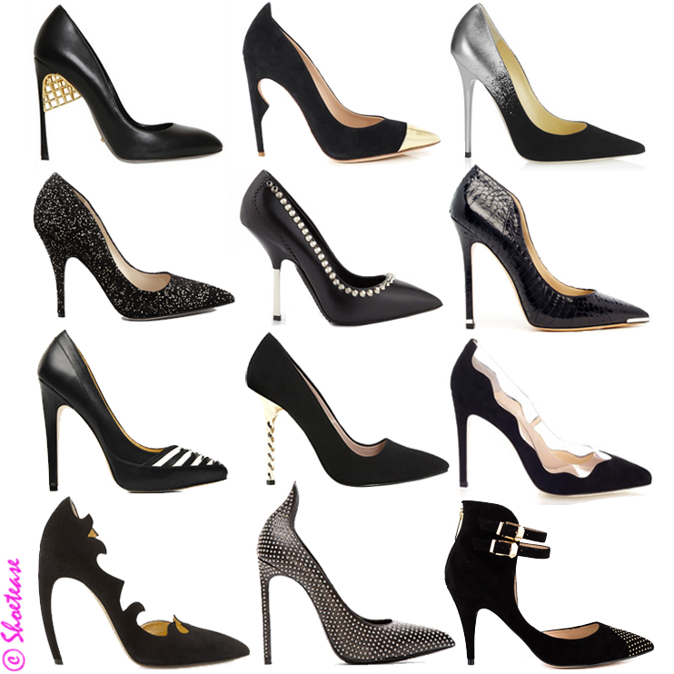 trends footwear stiletto pointed toe black suede leather high end designer fashion style