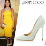 "Celebrity Shoe Style –  Olivia Munn in Jimmy Choo ""Anouk"" Pumps"