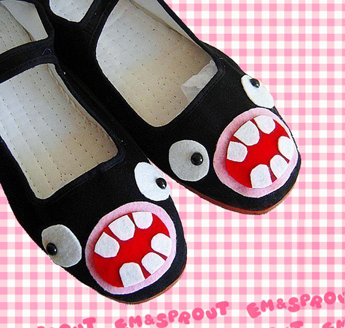 ugly weird freaky shoe flats footwear funny faces