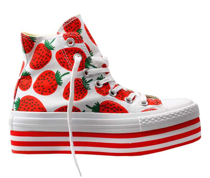 ugly shoe strawberry platorms lace up all star chuck taylor