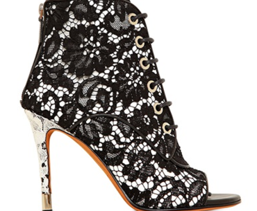 Open toe stiletto lace-up laces heels high_heels ankle boots