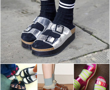 Freak Shoe Friday - Socks with Sandals Shoes Collage