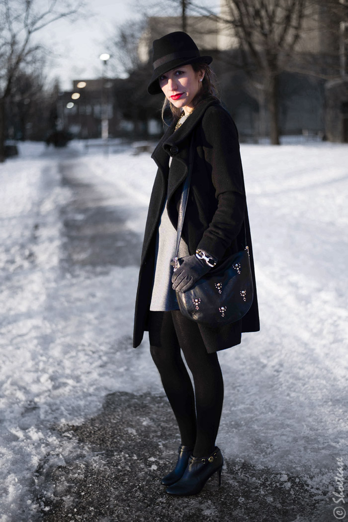1253f23e149 Toronto Street Style Fashion - Winter Fedora Hat