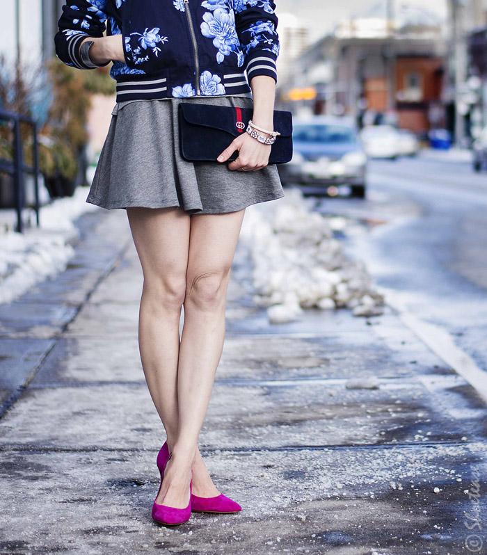 Skater dress street style